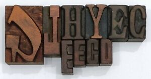 Letterpress Letter Wood Type Printers Block Lot Of 11 Typography eb 82