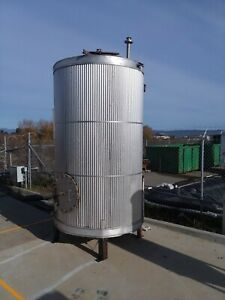 1 500 Gallon 304 Stainless Steel Cone Bottom Tank W insulation Aluminum Jacket