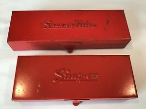 Snap on Vintage Red Metal Tool Storage Box kra229 Kra223a boxes Only nice Cond