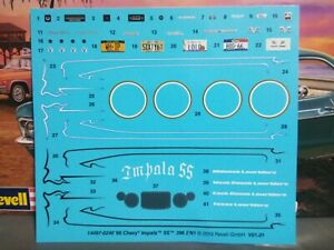 Decal Sheet 1966 Chevy Impala 1 25 Scale 1000s Model Car Parts 4 Sale