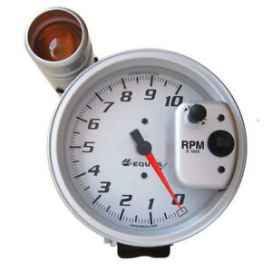 Equus Tachometer Gauge 6081s Shift Lite Tach 0 To 10000 Rpm 5 Silver Electric