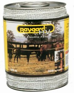Baygard 00692 328 Yellow Black High Visibility Electric Fence Tape