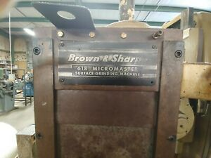Brown Sharpe 6 X 18 Surface Grinder Electromagnetic Chuck