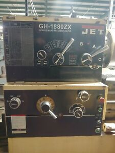 Jet Gh 1880 Zx Geared Head Lathe Large 3 125 Bore With Newall Digital Readout