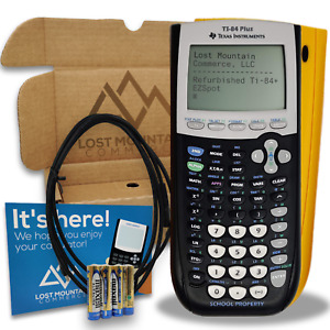 Ti 84 Plus Graphing Calculator By Texas Instruments yellow Liquidation