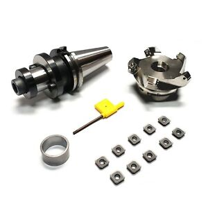 Dz Sales Cat40 1 1 4 Face Shell Mill Holder Set 45l With Milling Inserts