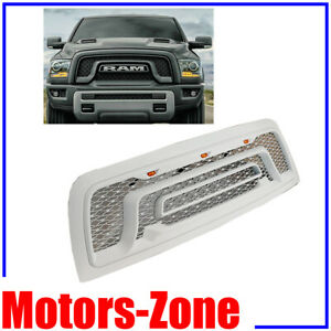 Painted Bright White Pw7 Grill For 10 18 Dodge Ram 2500 3500 W Led Lights