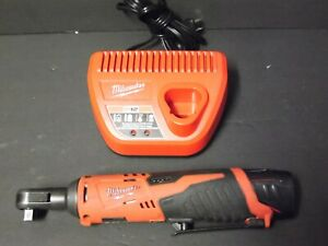 Milwaukee 2457 20 M12 Cordless 3 8 Lithium Ion Ratchet W Charger And 1 Battery