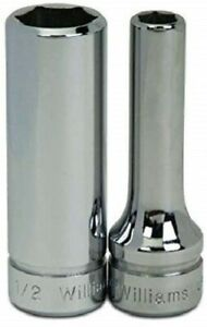 3 8 Drive Deep Sockets 6 Point Metric High polished Chrome Finish Williams