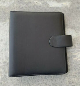 Franklin Covey Classic Genuine Leather Snap Planner Binder Black 18736 460
