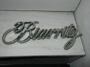Cadillac Biarritz 79 85 Chrome Trunk Script Emblem 86 91 Gm Trim