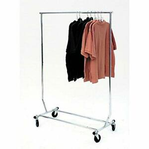 Econoco Collapsable Rolling Clothes Rack Heavy Duty commercial Use