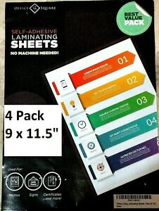 4 Pack Of Easy Self Laminating Sheets 4x6 No Tools Needed Free Ship For Id Card