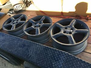Two Mini Cooper 17 Oem Wheels Painted Black Priced Each Free Usa Shipping