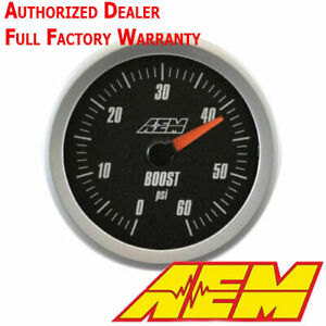 Aem 30 5137 Analog 60psi Turbo Boost Gauge Display Kit 4 1 Black