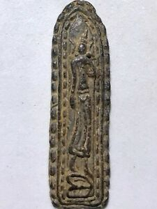 Phra Leela Lp Boon Rare Old Thai Buddha Amulet Pendant Magic Ancient Idol 42