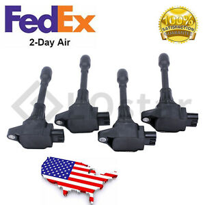 Set Of 4 Ignition Coils Fits Nissan Altima Rogue Versa Sentra Infiniti Qx60