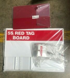 Brady 122057 5s Red Tag Board W clipboard And 7 X 4 Tags
