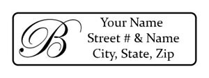 400 Personalized Return Address Labels Monogrammed 1 2 Inch By 1 3 4 Inch