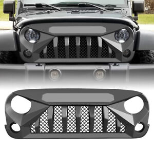 Mars Grille Front Guard Replacement For 07 18 Jeep Wrangler Jk Jku Abs Matte