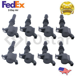 Set Of 8 Ignition Coils Fits Ford F 150 Expedition Explorer 4 6l 5 4l 6 8l
