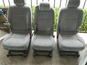Toyota Sienna Rear Second 2nd Row Seats Fabric 3 Pieces Set