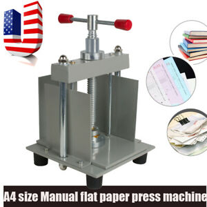 Pro A4 Flat Paper Press Machine Invoices check booklet nipping Machine Ship Fast