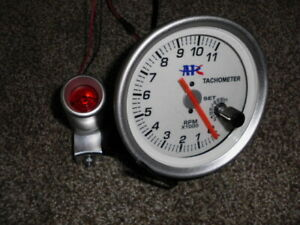 Race Tachometer 0 11 000 4 3 4 Dia White Face