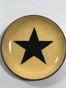 Primitive Decoration Plate Folk Art Star Country Home Style 7 Decoration Only