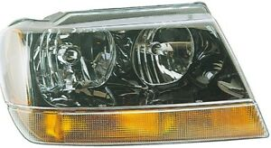 Fits 1994 2004 Jeep Grand Cherokee Passenger Right Front Headlight Lamp Assembly
