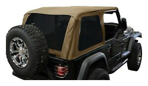 Fits 1997 2006 Jeep Wrangler Wo unlimited Spice Diamond Bowless Soft Top W tint