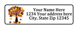 Fall Tree Personalized Return Address Labels 1 2 In By 1 3 4 In