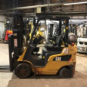 2012 Cat 2c5000 Used Forklift 5000lbs Triple Mast Sideshift 7867 Hours Lp Gas