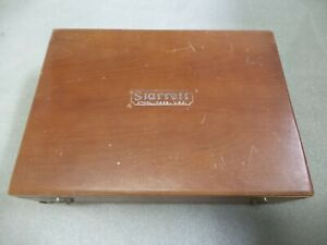 L S Starrett Micrometer Cylinder Gauge Tools In Fitted Wooden Case No 224 Set Aa