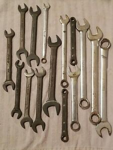 15 Various Snap On Wrenches Some Open End Some Ratcheting Some Combination