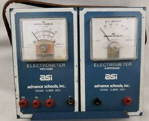Asi Electrometer Voltage Amperage Test Meter Tool Electric Current Used No Rheo