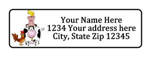 Farm Animals Personalized Return Address Labels 1 2 In By 1 3 4 In