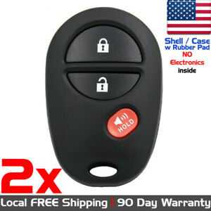 2x New Replacement Keyless Entry Remote Control For Toyota Gq43vt20t Shell Only