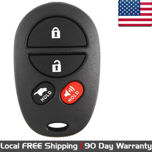 1x New Replacement Keyless Entry Key Fob Remote Control For Toyota Gq43vt20t