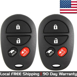 2x New Replacement Keyless Entry Key Fob Remote Control For Toyota Gq43vt20t