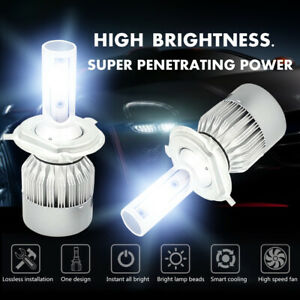 Cree H4 Led Headlight Light Bulbs Hi Lo Beam 6000k 9003 Hb2 1810w 271500lm Pair