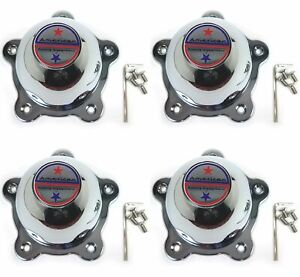 4 American Racing Chrome Wheel Center Hub Caps Torq Thrust 5lug Vn105 D Vn309
