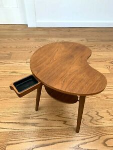Danish Modern Kidney Teak Side Table By Gorm M Bler Fantastic Condition