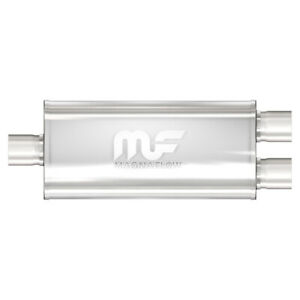 Magnaflow 12158 High Flow Stainless Steel Muffler Single dual In out 2 5 2 5inch