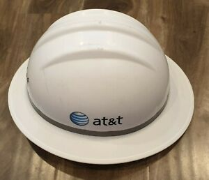 White Construction Hard Hat Liner At t Stickers Cool Collectible Vintage Bullard