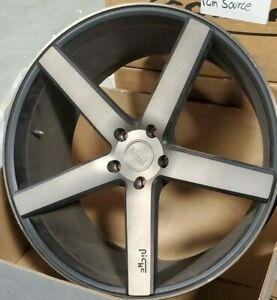 Used 22x10 5 Niche Milan Ddt single Wheel 5x120 Et45 can Be Drilled