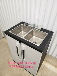 Portable Double Sink Mobile Self Contained Hot Water Concession 110v