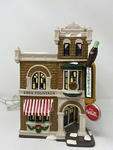 Department 56 Coca Cola Corner Drug Store. With Cable And Bulb(No Box)