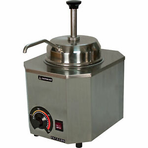 Pro deluxe Stainless Steel Electric Food Buffet Condiment Warmer Pump Dispenser