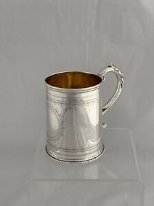 Antique Victorian Silver Christening Mug 1869 London Sterling Silver